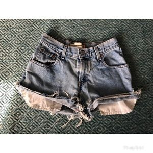 Vintage High Rise Levi's Cutoffs